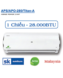 Điều hòa Sumikura APS/APO-H280 Titan-A 28.000btu 2 chiều