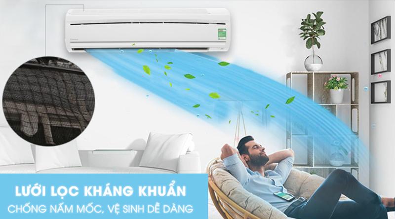 Điều hòa Daikin Inverter 1 chiều 18000 BTU FTC50NV1V Tấm vi lọc bụi kháng khuẩn mang đến bầu không khí trong lành