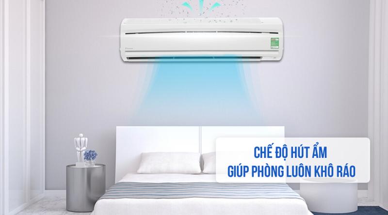 Điều hòa Daikin Inverter 1 chiều 18000 BTU FTC50NV1V Chế độ hút ẩm độc đáo, cho căn phòng luôn khô ráo, dễ chịu