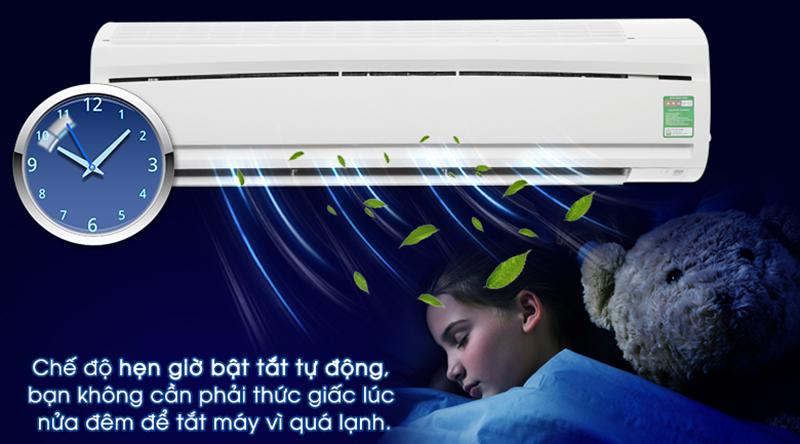 Điều hòa Daikin Inverter 1 chiều 18000 BTU FTC50NV1V Tính năng hẹn giờ bật tắt máy ngăn chặn nguy cơ cảm lạnh vào ban đêm