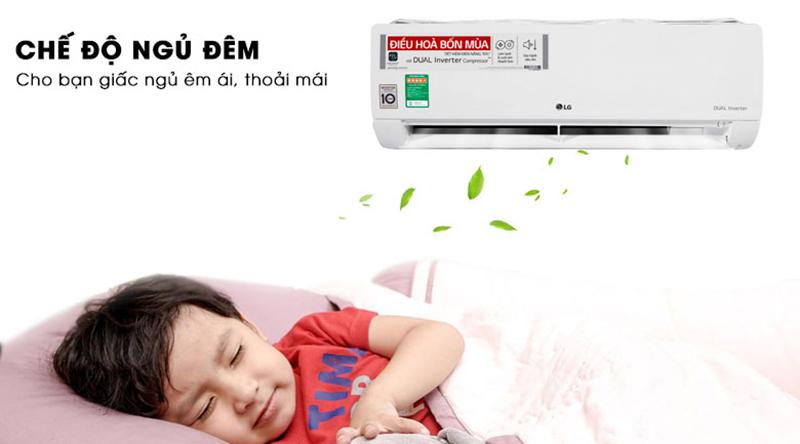 Điều Hoà LG Inverter 1 chiều 18000 BTU V18ENF Chế độ ngủ đêm mang lại giấc ngủ ngon và sâu hơn
