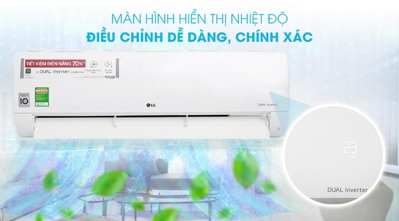 Điều Hoà LG Inverter 1 chiều 18000 BTU V18ENF Màn hình LED hiển thị nhiệt độ tiện lợi