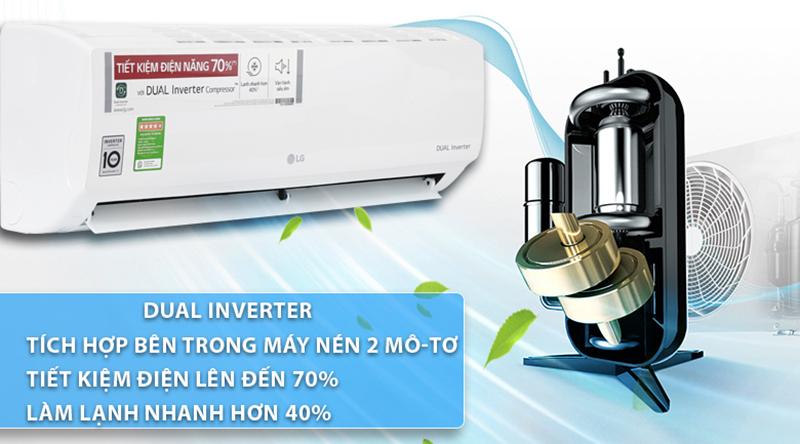 Điều Hoà LG Inverter 1 chiều 18000 BTU V18ENF Máy lạnh siêu tiết kiệm điện năng nhờ tính năng tùy chỉnh mức điện tiêu thụ