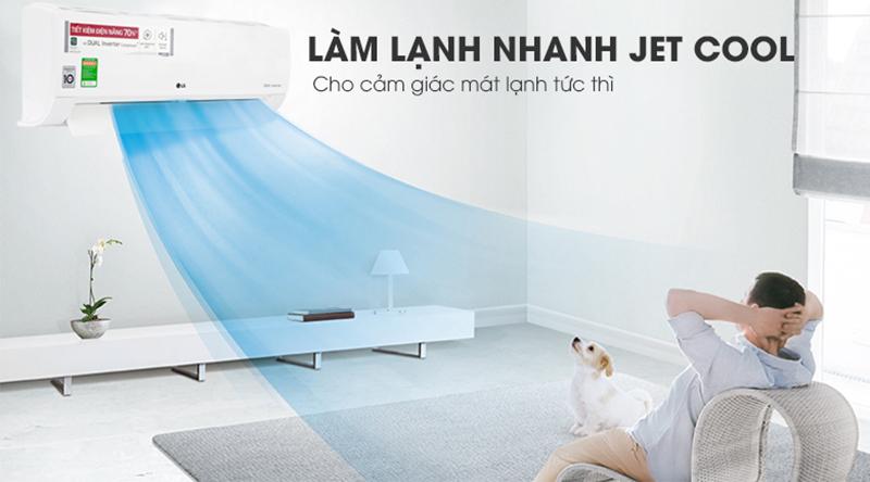 Điều Hoà LG Inverter 1 chiều 9000 BTU V10ENW Tính năng làm lạnh nhanh Jet Cool