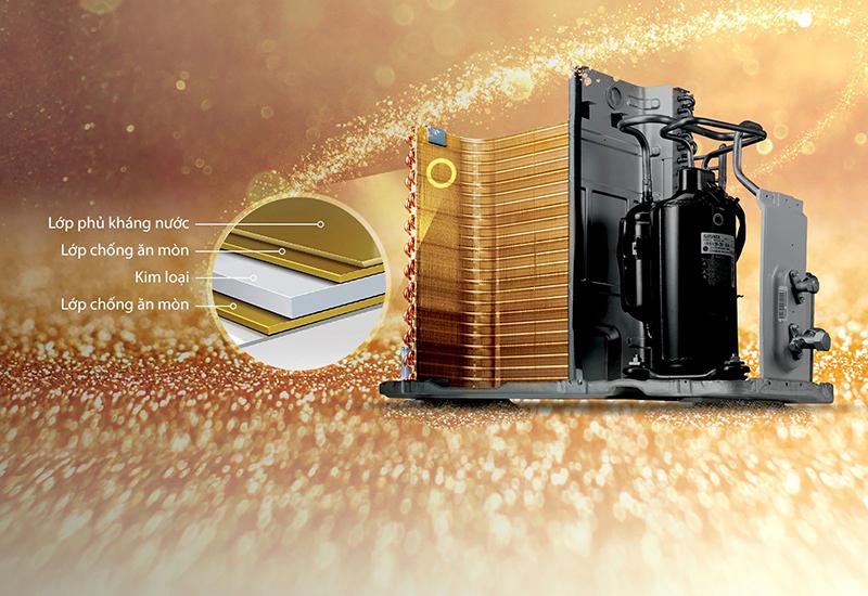 Điều Hoà LG Inverter 2 chiều 18000 BTU B18END Dàn tản nhiệt mạ vàng