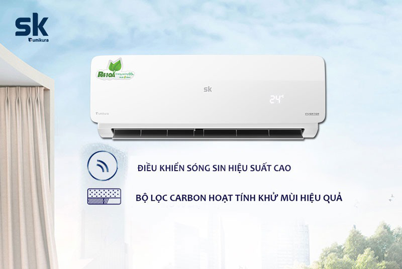 Điều hòa Sumikura Inverter 2 chiều 9000 BTU APS/APO-H092DC Công nghệ tiết kiệm điện, diệt khuẩn khử mùi hiệu quả