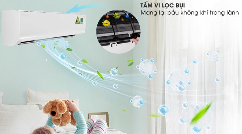 Điều hòa Daikin Inverter 2 chiều 18000 BTU FTHF50RVMV Tấm vi lọc bụi