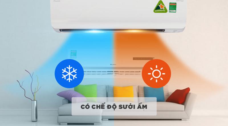 Điều hòa Daikin Inverter 2 chiều 18000 BTU FTHF50RVMV Chế độ sưởi ẩm