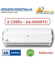 Điều Hòa Sumikura APS/APO-H240/TITAN-A - Loại Hai Chiều Gas R410