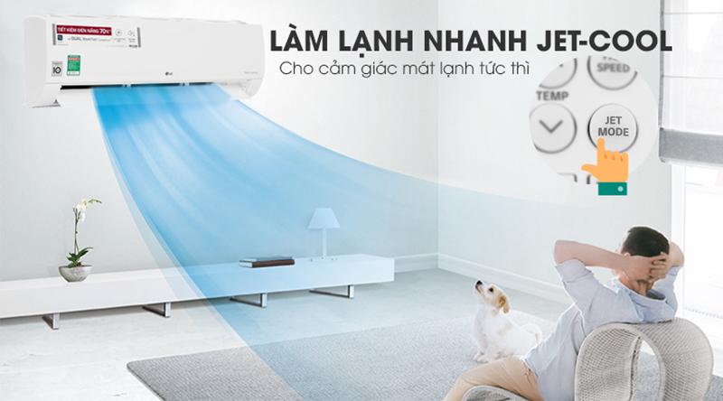 Điều Hoà LG Inverter 1 chiều 24000 BTU V24END Chế độ làm lạnh nhanh tức thì Jet Cool