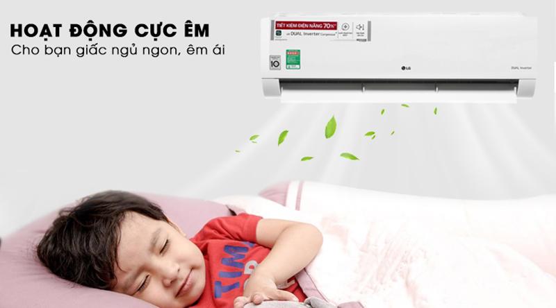 Điều Hoà LG Inverter 1 chiều 24000 BTU V24END Ngủ ngon hơn với chế độ vận hành khi ngủ
