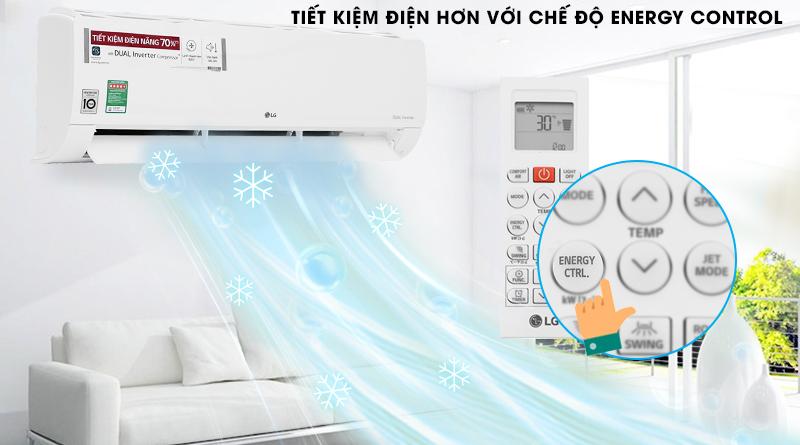 Điều Hoà LG Inverter 1 chiều 24000 BTU V24END Tiện ích kiểm soát năng lượng chủ động