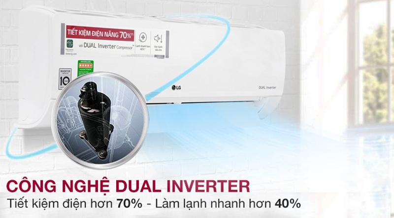 Điều Hoà LG Inverter 1 chiều 24000 BTU V24END Công nghệ Inverter tiết kiệm điện, vận hành êm
