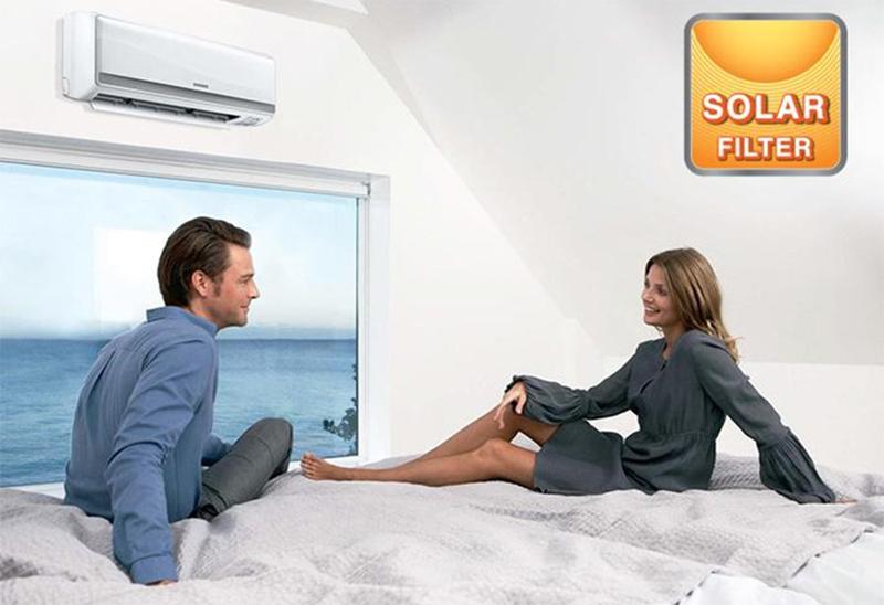Điều Hoà Mitshubishi 1 chiều 9000 BTU SRK/SRC10CRS-S5 Bộ lọc khử mùi Solar Filter