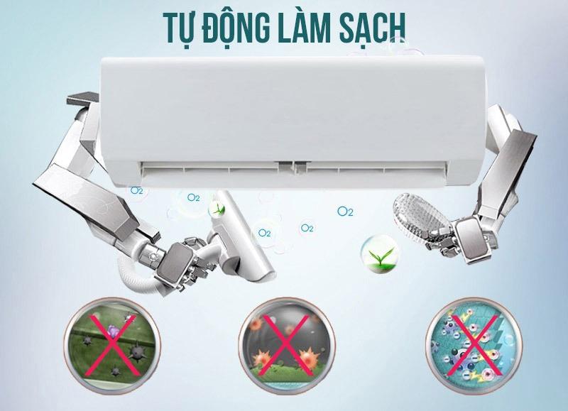 Điều hoà Mitshubishi Inverter 1 chiều 9000 BTU SRK/SRC10YXP-W5 Hoạt động tự làm sạch