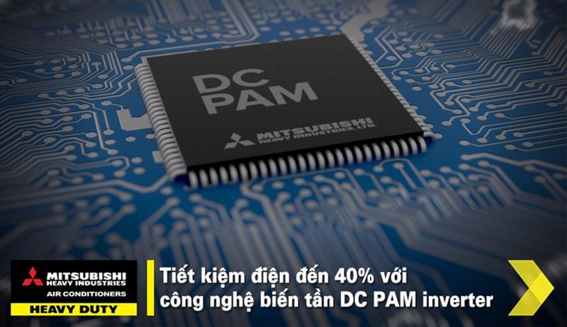 Điều hoà Mitshubishi Inverter 1 chiều 9000 BTU SRK/SRC10YXP-W5 Tiết kiệm điện với công nghệ biến tần DC PAM inverter