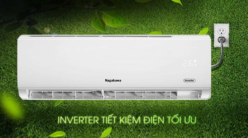 Điều hòa Nagakawa Inverter 1 chiều 24000 BTU NIS-C24R2T01 Công nghệ Inverter tiết kiệm điện năng