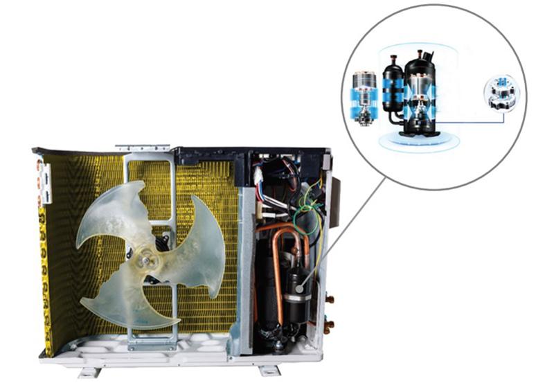 Điều hòa Nagakawa Inverter 2 chiều 12000 BTU NIS-A12R2T01 Siêu bền với cánh tản nhiệt Golden Fin