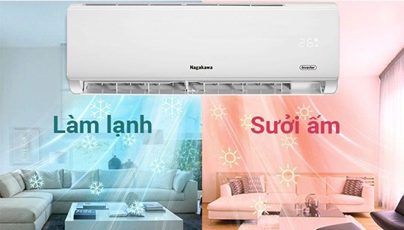 Điều Hoà Nagakawa Inverter 2 chiều 24000 BTU NIS-A24R2T01 2 chiều lạnh/sưởi