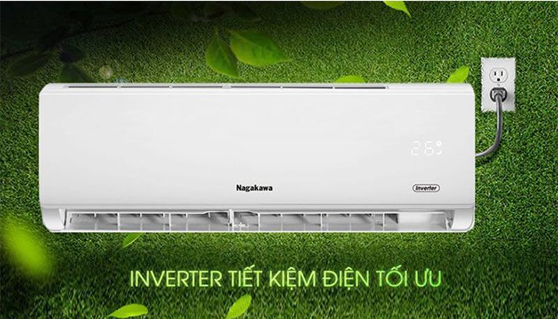 Điều Hoà Nagakawa Inverter 2 chiều 24000 BTU NIS-A24R2T01 Tiết kiệm điện năng