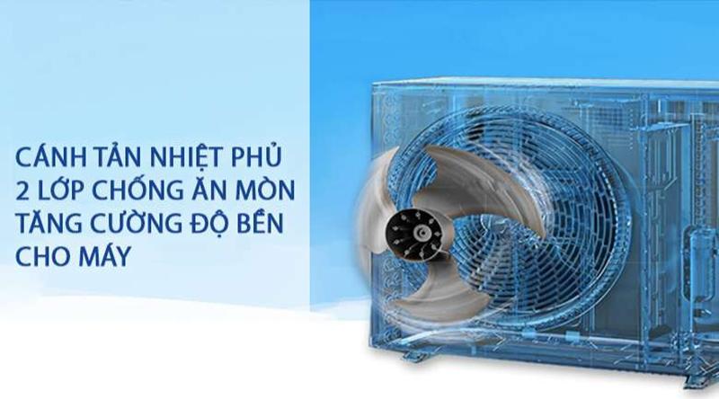 Điều hòa Daikin 1 chiều 9000 BTU FTF25UV1V Độ bền cao với lá tản nhiệt được phủ 2 lớp chống ăn mòn