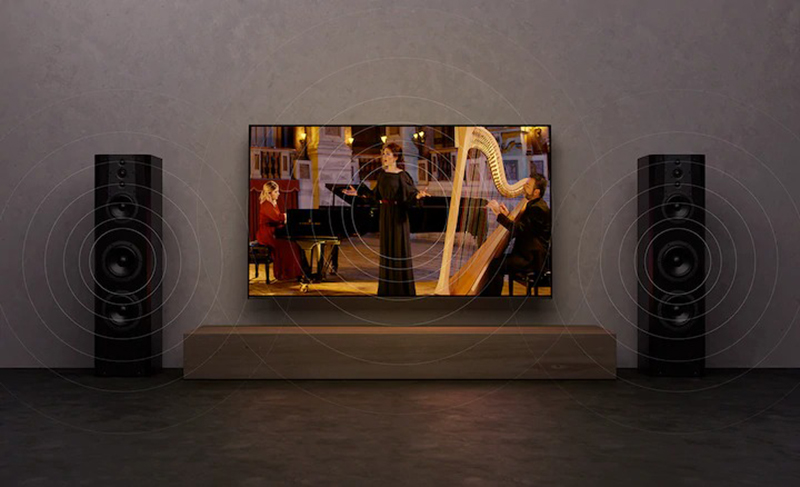 Android Tivi Sony OLED 4K 55 inch KD-55A9G Vật trang trí trung tâm phát ra âm thanh hấp dẫn