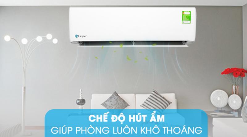 Điều Hoà Casper 1 chiều 9000 BTU LC-09TL32 Giữ cho căn phòng bạn luôn khô thoáng với chế độ hút ẩm