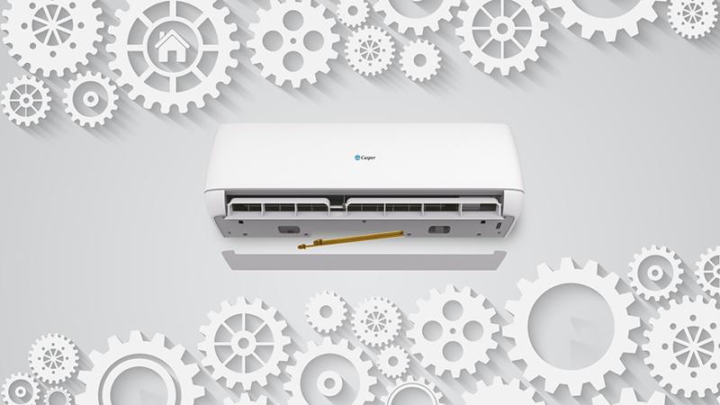 Điều Hoà Casper Inverter 1 chiều 9000 BTU IC-09TL32 Cấu trúc linh hoạt, tối giản công việc lắp đặt