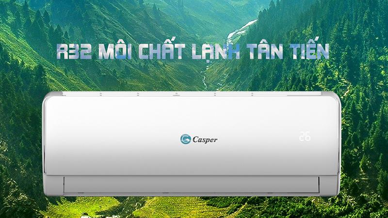 Điều Hoà Casper Inverter 1 chiều 9000 BTU IC-09TL32 Môi chất lạnh tân tiến R32