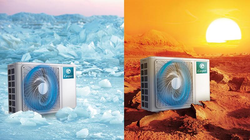 Điều Hoà Casper Inverter 1 chiều 9000 BTU IC-09TL32 Thiết kế dàn nóng thế hệ mới