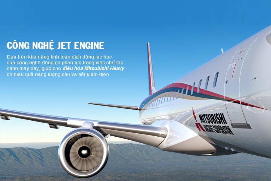 Công nghệ Jet Engine giúp điều hòa đạt hiệu quả năng lượng cao và tiết kiệm điện