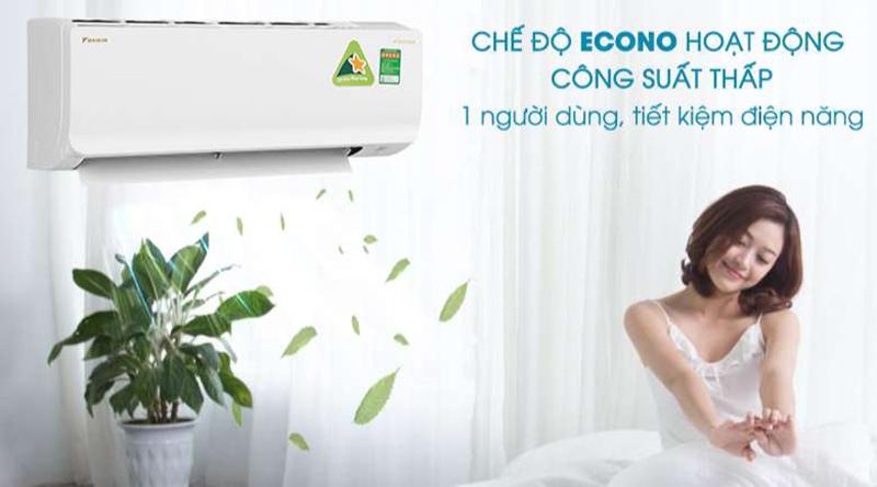 Điều hòa Daikin Inverter 1 chiều 9000 BTU FTKA25UAVMV Tiết kiệm điện năng hiệu quả với chế độ Econo