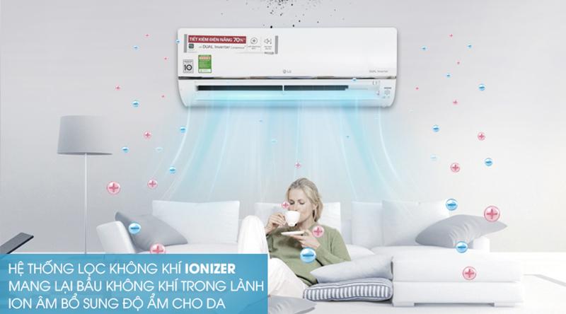 Điều Hoà LG Inverter 1 chiều 12000 BTU V13API Hệ thống lọc khí Ionizer