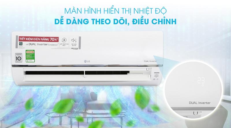 Điều Hoà LG Inverter 1 chiều 12000 BTU V13API Màn hình LED hiển thị nhiệt độ tiện lợi