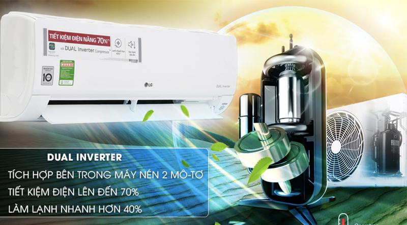 Điều Hoà LG Inverter 1 chiều 12000 BTU V13API Chế độ kiểm soát năng lượng chủ động tiết kiệm điện năng