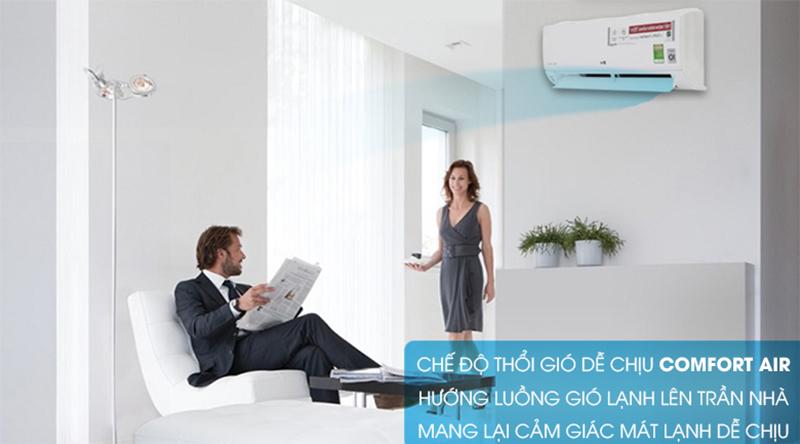 Điều Hoà LG Inverter 1 chiều 12000 BTU V13API Chế độ thổi gió Comfort Air dễ chịu