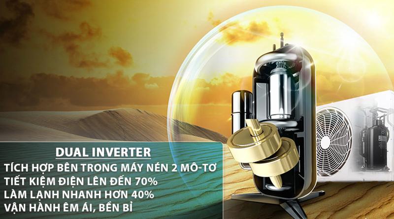 Điều Hoà LG Inverter 1 chiều 9000 BTU V10API Máy lạnh Dual Inverter có khả năng tiết kiệm đáng kể chi phí điện hằng tháng