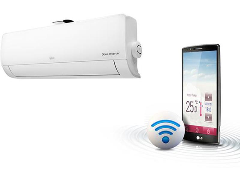 Điều Hoà LG Inverter 2 chiều 9000 BTU B10APF Tích hợp kết nối wifi, điều khiển bằng điện thoại thông minh khi bạn vắng nhà