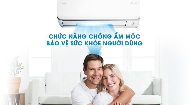 Điều hòa Daikin Inverter 1 chiều 17100 BTU FTKA50UAVMV Bảo vệ tối ưu sức khỏe người dùng với chức năng chống ẩm mốc