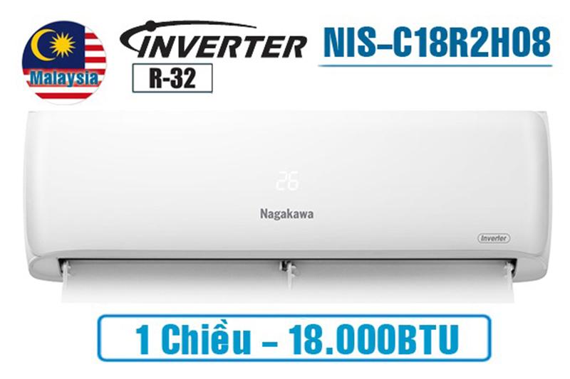 Điều hòa Nagakawa Inverter 1 chiều 18000 BTU NIS-C18R2H08 Điều hòa Nagakawa 18000 BTU lựa chọn cho diện tích < 30m2.