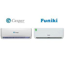 So sánh điều hòa Casper và điều hòa Funiki