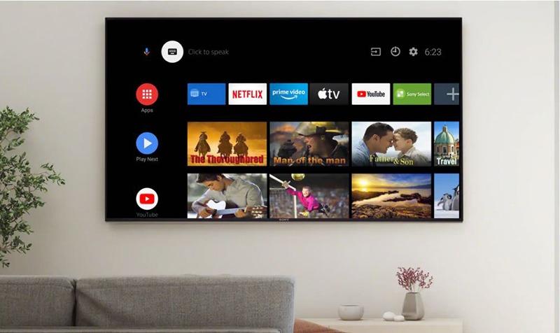 Android Tivi Sony 4K 43 inch KD-43X8500H UHD hơn 400.000 bộ phim và chương trình