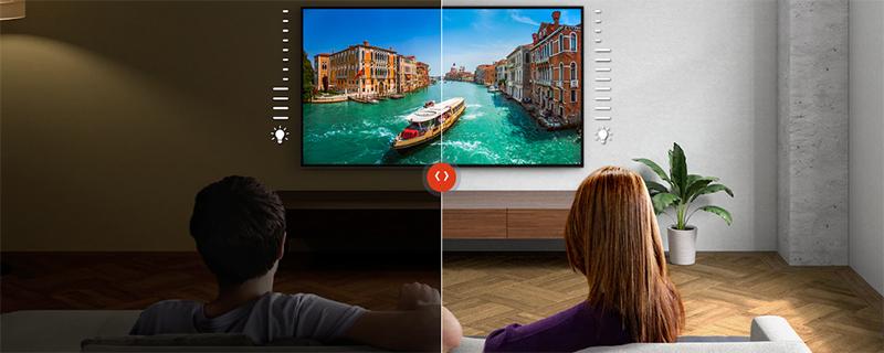 Android Tivi Sony 4K 49 inch KD-49X9500H Độ sáng được tinh chỉnh cho căn phòng của bạn