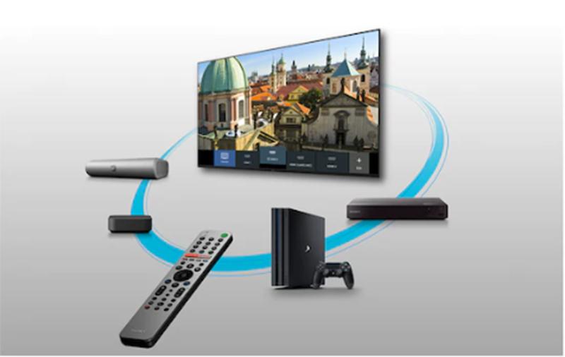Android Tivi Sony 4K 55 inch KD-55A8H Điều khiển dễ dàng bằng điều khiển từ xa thông minh