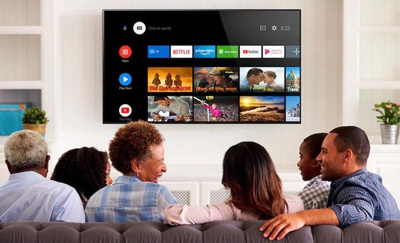 Android Tivi Sony 4K 65 inch KD-65X7500H UHD điều khiển tivi bằng giọng nói