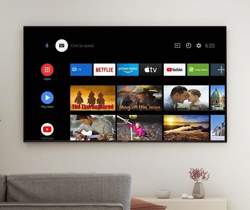 Android Tivi Sony 4K 65 inch KD-65X7500H UHD truy cập dễ dàng, thao tác đơn giản