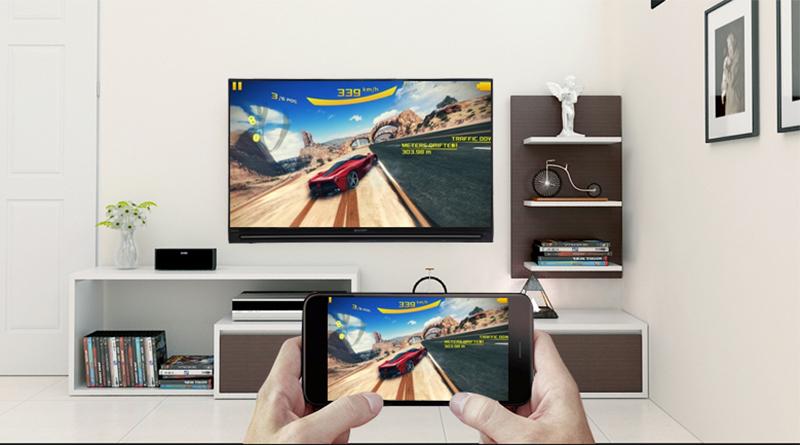 Smart Tivi Sharp 40 Inch LC40SA5500X Full HD Chiếu màn hình điện thoại lên tivi qua tính năng Screen Mirroring