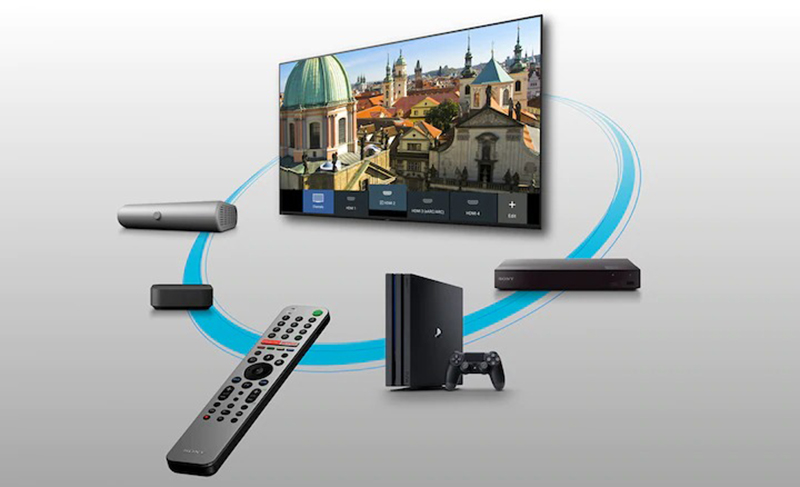Android Tivi Sony 4K 55 inch KD-55X8050H Điều khiển dễ dàng bằng điều khiển từ xa thông minh