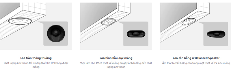 Android Tivi Sony 4K 65 inch KD-65X8050H Thưởng thức âm thanh chất lượng cao
