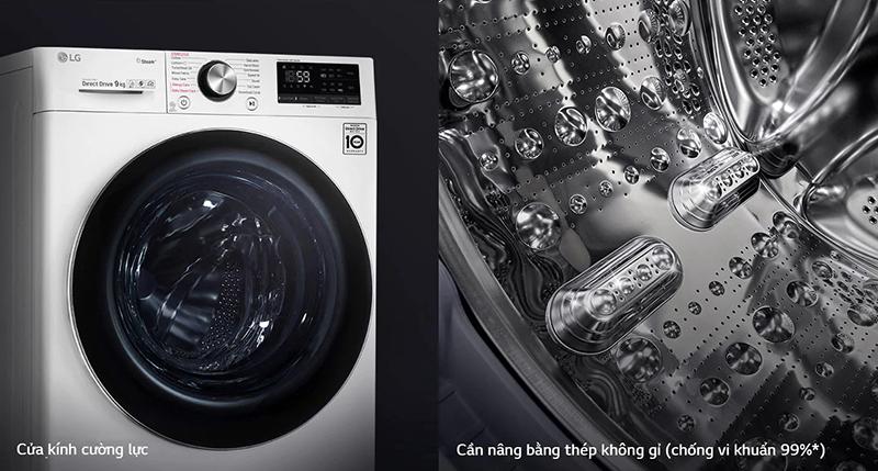 Bền và sạch hơn với máy giặt LG FV1409S3W.